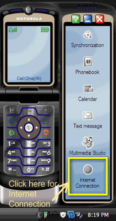 Motorola Mobile connected to PC for Internet Connection.png