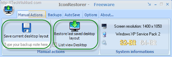 Save and Restore your Icon Position