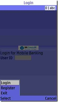 register for SBI mobile banking
