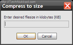 Compress to desired file size-RIOT