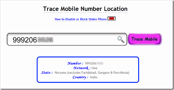mobile Number Tracker Websites in India